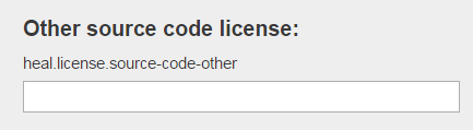other source code license