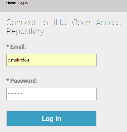 Connect to IHU Open Access Repository